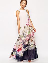 Women's Vintage Sexy Print Maxi Dress