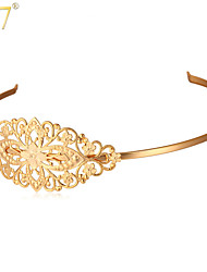 U7® Women's Hollow Flowers Hair Clasp 18K Real Gold/Platinum Plated Jewelry Gift for Girls Exquisite Headband