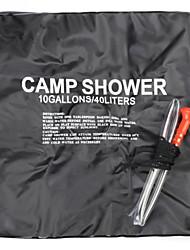 nouveau camping arrivée la mode de 40l randonnée sac chauffée solaire portable de douche extérieure d'eau de la conduite