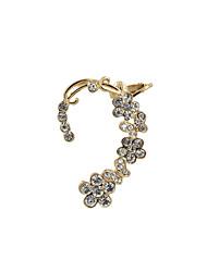 Poignets oreille Alliage Strass Imitation de diamant Forme de Fleur Bijoux Mariage Soirée Quotidien Décontracté Sports 1pc