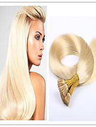 """3pcs / lot 1g / s 100g / pc Vente en gros brésiliens vierges fusion de cheveux de kératine pré-liée i lève extension de cheveux, 18 """"-28"""","""