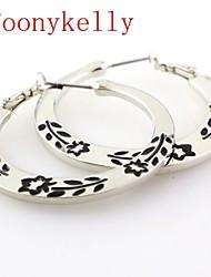 Earring Hoop Earrings Jewelry Women Alloy 2pcs Silver