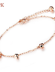 OPK®Stainless Steel Plating Rose Gold Lovely Small Bell Woman Foot Ornaments Anklet