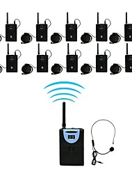 2.4G Digital Wireless Tour Guide / Translation system (1 Transmitter and 10 Receivers)