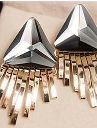 Brincos Compridos Jóias da indicação Moda Jóias de Luxo Europeu Liga Cor Ecrã Jóias Para 2pçs