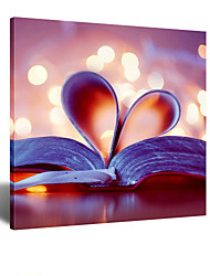 decoração da parede moderna arte visual STAR® da parede da lona livro para sala de estudo pronto para pendurar
