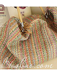 Handcee®  New Lady's Bag Bulk Material Woven Straw Shoulder Bag