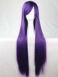 New Anime Cosplay Purple Long Straight Hair Wig 80CM