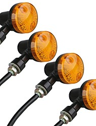 Motorcycle Motorbike Amber Turn Signal Light Bulb Indicator 12V (4 Pcs)