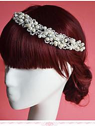 Femme / Jeune bouquetière Strass / Imitation de perle Casque-Mariage / Occasion spéciale Fleurs 1 Pièce