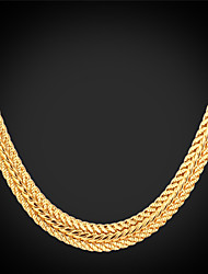 Necklace Choker Necklaces / Chain Necklaces Jewelry Wedding / Party / Daily / Casual Fashion Alloy / Platinum Plated / Gold PlatedGold /