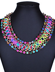 Women Vintage/Cute/Party/Casual Alloy/Gemstone & Crystal/Cubic Zirconia Necklace Sets