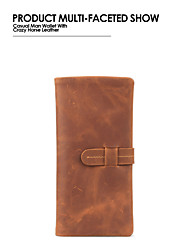The New European and American Style Retro Crazy-Horse Leather Wallet Men and Women Wallet