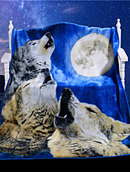 I Love Wolf Blanket 3D Plaids on Sofa for Bed Cool Best Gift Soft Vivid New Unique Top Design Throw Bedding