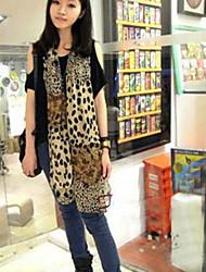 Women Leopard Print Scarves Shawls Chiffon Scarf