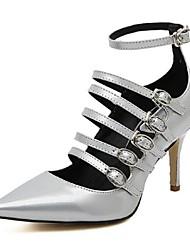 Calçados Femininos - Saltos - Saltos / Bico Fino - Salto Agulha - Branco - Courino - Casual