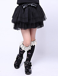 Girl's Cotton Blend Fashion Sweet Princess Cake Skirt
