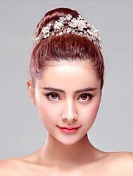 Sweet Rhinestones Titanium Wedding/Party Headbands with Imitation Pearls