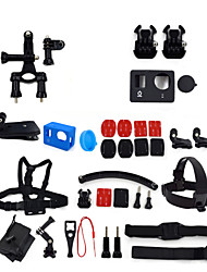 ourspop kit gp-k12-34 em uma acessórios para GoPro Hero 4 hero3 + câmera hero3
