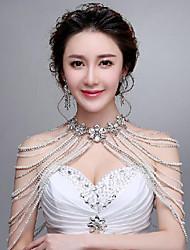 Romantic Korea Style  Wedding Wraps with Pearls with Rhinestones
