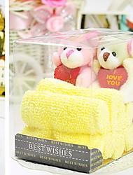 Cartoon Hand Towel with DoubleTeddy Bear Plush Toys Wedding Favors (Random Color)
