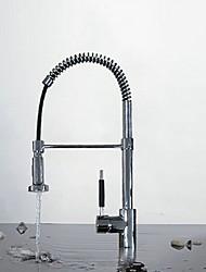 Pull Out contemporain Fini Chrome mitigeur robinet de cuisine