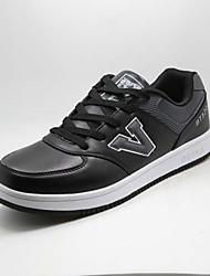 Indoor Court Men's Shoes Leatherette Black/White