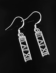 New Design Wedding Dress Roman Design Silver Plated Drop Earrings for Lady High Quality