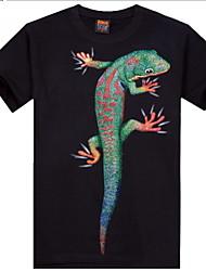 Informell/Bedruckt/Party/Business Rund - Kurzarm - MEN - T-Shirts (Baumwolle)
