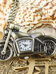 Men's Motorcycle Pattern Alloy Analog Quartz Necklace And Pocket Watch Cool Watch Unique Watch