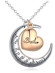 Women's Europe And The United States Fashion Moon Heart Necklace Collarbone Chain