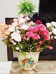 de haute qualité fleur artificielle de couleur rose vif fleurs de soie pour le mariage et décoratif