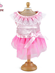 Cat / Dog Dress Pink Summer Bowknot Wedding / Cosplay