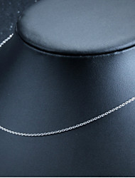 Genuine S925 Silver Necklace Chain Summer Fashion All-match Clavicle Naked Chain with Chain Korean Fashion