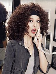 Europa y los Estados Unidos de alta calidad peluca rizada de moda