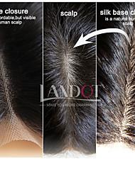 "8-20"" Brazilian Silk Base Closure Straight Size 4x4 Natural Black Free Middle 3 Part Virgin Human Hair Silk Lace Closure"