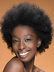 em estoque 10-30inch afro direto com o bebê cabelo rendas frente perucas 100% brasileira virgem u cabelo humano peruca parte para as