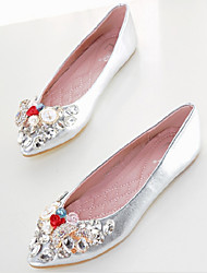 Women's Shoes Faux Leather Flat Heel Pointed Toe Flats Casual Silver/Gold