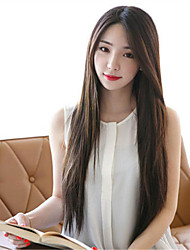 Synthetic Women Wig Korean Style Straight Heat Resistant Hair Wigs