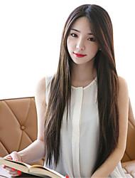las mujeres sintéticas peluca de estilo coreano de calor recta pelucas de cabello resistente