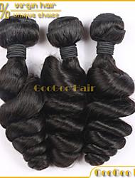 """3pcs mucho peruana virginal del pelo 10 """"-28"""" no procesada extensión paquete armadura virginal del pelo humano onda floja de grado"""