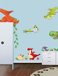 style Stickers muraux autocollants de mur nouveau zoo de dinosaure muraux PVC autocollants