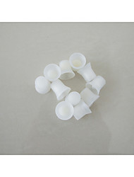 100pcs/Lot Permanent Makeup Ink Cups With Sponge White Ink Caps Holder Ink Ring For Eyebrow Tattoo
