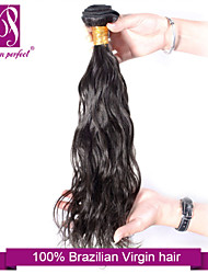 "1pcs/lot 12""-30""  Brazilian Virgin Hair Jet Black Natural Wave Human Hair Extensions Hair Weaves"