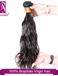 "1pcs / lot 12 ""-30"" brazilian jato cabelo virgem onda preto natural de extensões de cabelo humano cabelo tece"