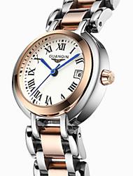 GUANQIN® Calendar Quartz Fashion Female Watch Slim 100m Waterproof Stainless Steel Sapphire Crystal Wrist Watches With Watch Box