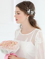 3 pieces/set Alloy Leaves Wedding/Party Bridal Headpiecs with Tiny Crystal Stones