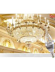 morsen® 5pcs 3W e14 250-300lm 6000-6500K koel / warm witte kleur LED kaars stijl kaars lamp (85-265V)