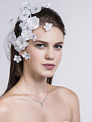 Women Fabric Flowers With Crystal Wedding/Party Headpiece