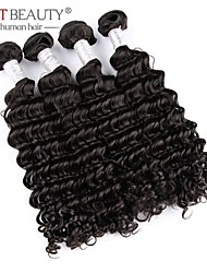 "8""-30"" Top Quality Cheap Deep Wave Human Hair Weaving Brazilian Human Hair Natural Black"